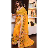 Ladies Handloom Pure Linen Sarees