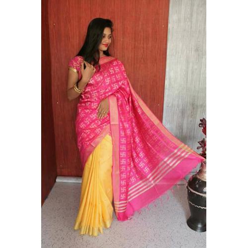 Ladies soft silk sarees 2 colour