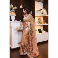 Ladies jamdani jykat weaving Pure Linen Sarees
