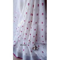 Ladies embroidery design Linen Saree