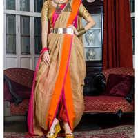 Ladies Linen Dhoti Saree