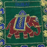 Indian Vintage Banjara Old Coin Tribal Jogi Elephant Pouch Bag