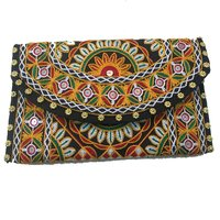 Indian Vintage Banjara Old Coin Tribal Patch Work Clutch Bag