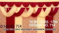 Tent decoration parda fabric