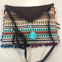 Hippie Hippy Chic Clutch Pouch Leather Hand Bag