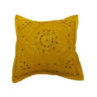 Indian Handmade Embroidery Mirror Work Cushion Covers