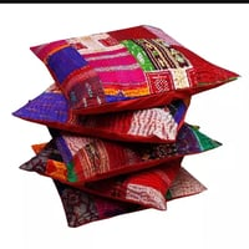 Indian Cotton Handmade Patchwork Kantha Decorative Pillow Decoration Cushion Cover