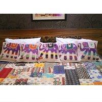 Traditional Patchwork Jogi Elephant Cushion Cover