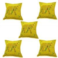 Indian Handmade Jogi Elephant Embroidery Work Decorative Cushion Covers