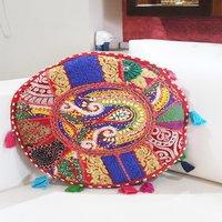 Indian Handmade Royal Rajasthani Banjara Patch Work Cushion Cover