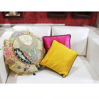 Indian Handmade Royal Rajasthani Banjara Patch Work Cushion Cover