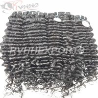 Wholesale Cuticle Aligned Raw Indian Hair Wave Curly 100% Human Hair Extension