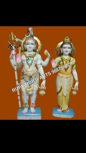 Shiv Parvati Stone Marble Statue