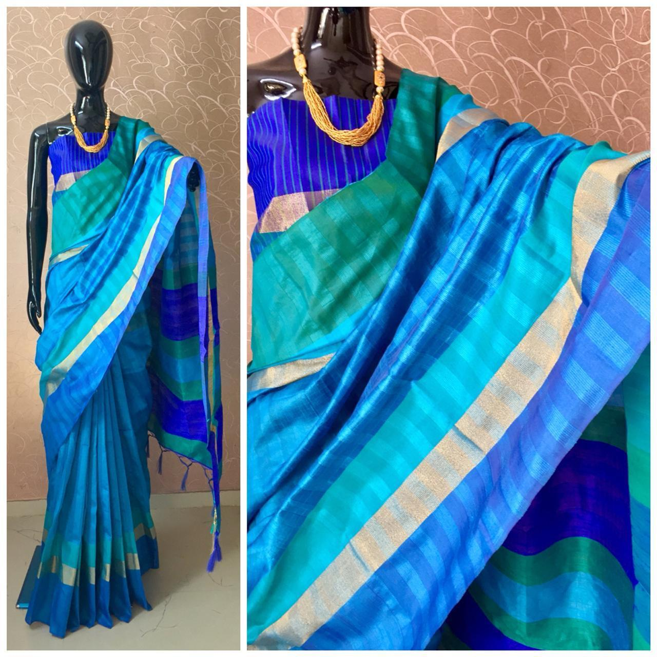 Fancy Raw Silk Saree