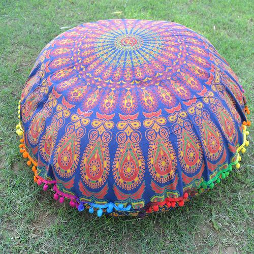 Mandala Decorative Floor Round Home Textile Cushion Cover