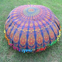 Mandala Decorative Floor Round Home Textile Cushion Cover