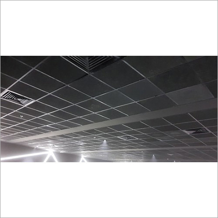 Black Fibreglass Acoustic Ceiling Tile