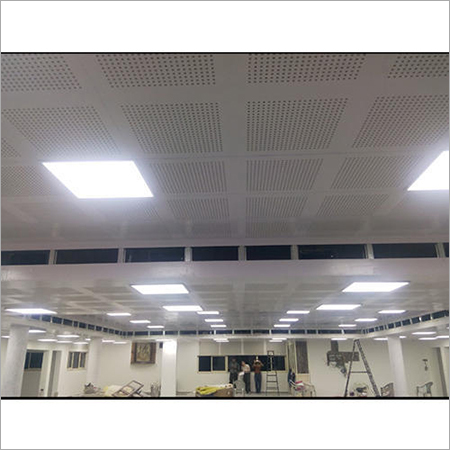 Perforated Gypsum Acoustic Ceiling