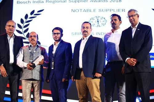 NOTABLE SUPPLIER AWARD - BOSCH India Regional Supplier Award 2018