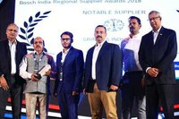 NOTABLE SUPPLIER AWARD - BOSCH India Regional Supplier Award 2018
