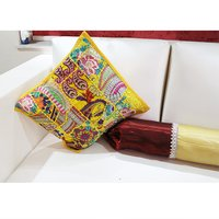 Indian Handmade Tribal Banjara Gypsy Cotton Fabric Patchwork Cushions Cover