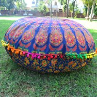 Indian Mandala Decorative Floor Round Home Textile Cushion Cover