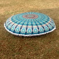 Mandala Round Pillow Case Round Seating Tapestry Cushion Cover