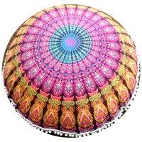 Wholesale Indian Jaipuri Rajasthani Decor Mandala Round Cushion Cover