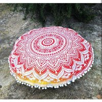 Indian Cushion Cover Decorative Textile Hand Printed Home Decor Cushion Cover