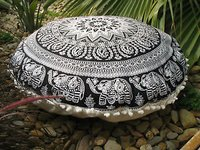 100% Cotton Indian Elephant Mandala  Cushion Cover