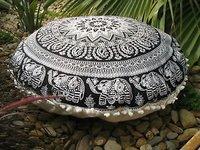 100% Cotton Indian Elephant Mandala  Cushion Cover