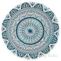 Indian Room Decorations Deepak Mandala Round Seating Pom Pom Cushion Cover