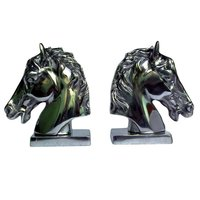 Horse Head Bookend Pair Statue