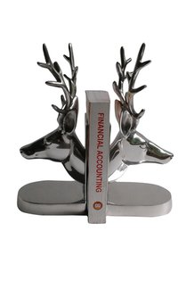 Aluminium Deer Head Bookend Pair Statue