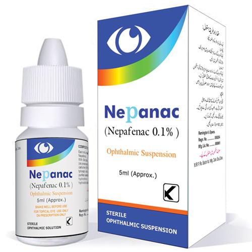 Nepafenac Opthalmic Solution 0.1%