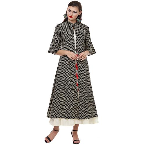 Handblock Flare Set Dress