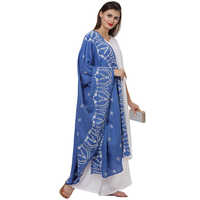 Blue Embroidered Suit Set