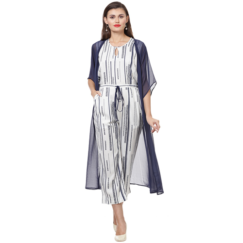 Blue Stripe Wide Leg jumpsuit