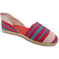 Ladies 3 Color Strip Belly Shoes