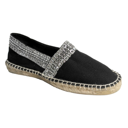 Ladies Designer Black Loafer Shoes