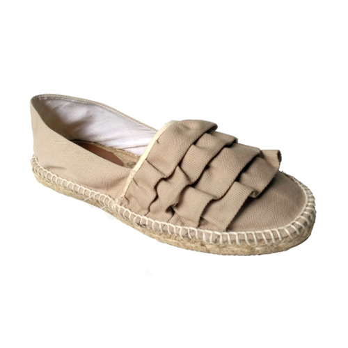 Ladies Fancy Beige Color Loafer Shoes