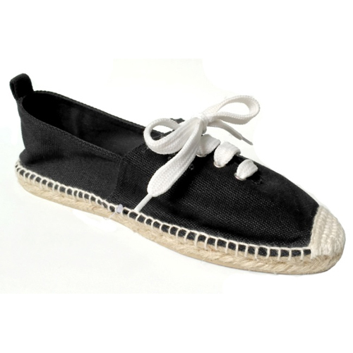 Ladies Black Loafer  Shoes with Laces