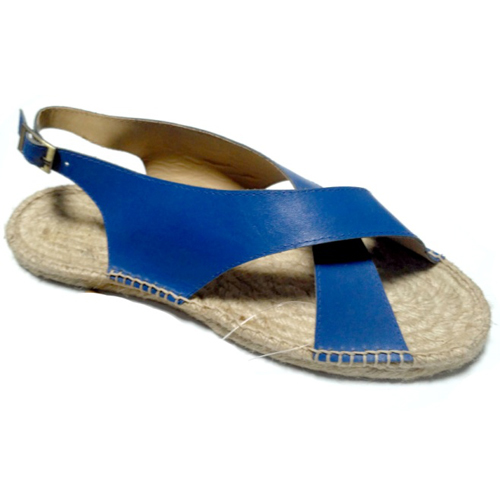 Ladies Blue Leather Sandals