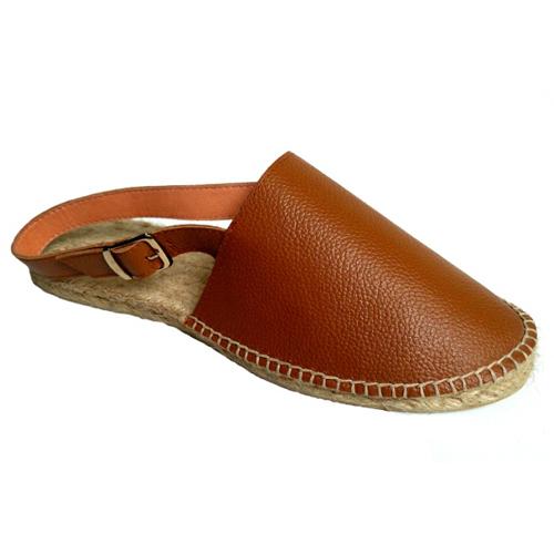 Ladies Camel Leather Sandals