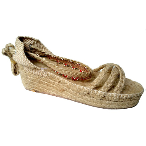 Ladies Jute Braided Sandals