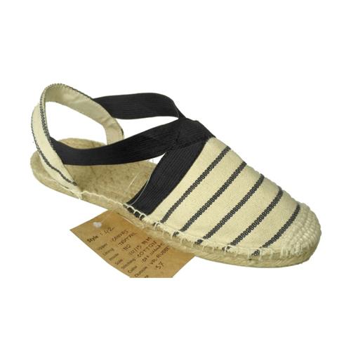 Ladies Strip Beige Sandals