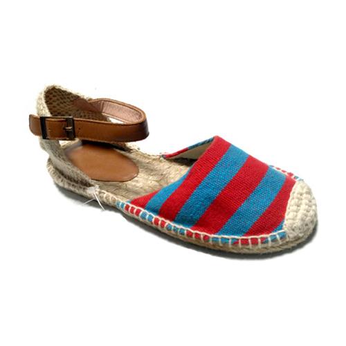 Ladies Canvas Flat Sandals