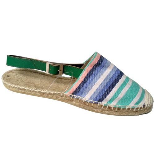 Ladies Multicolour Strip Sandals