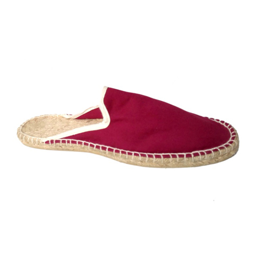 Ladies Burgundy Canvas Slippers