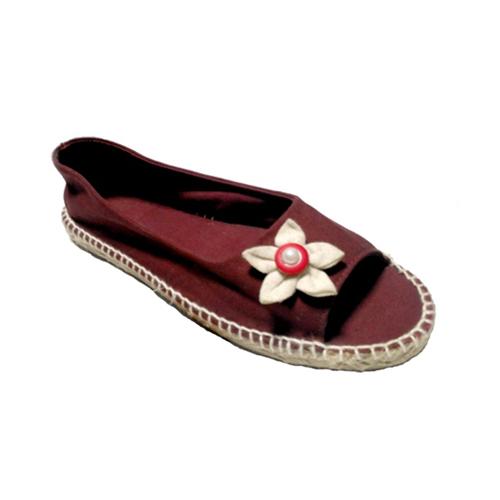 Ladies Marron Slippers